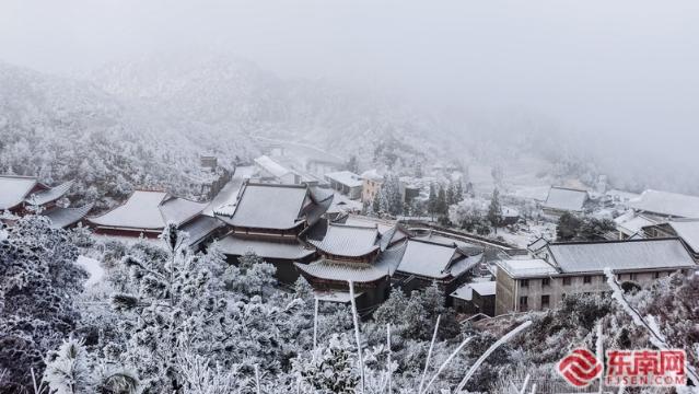 福安白云山现冰雪景观